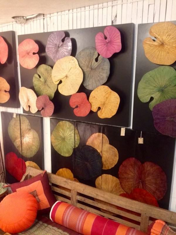 Lotus Leaf Wall Art (1)