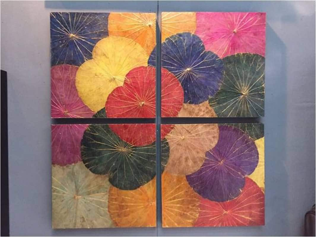 Lotus Leaf Wall Art (40)